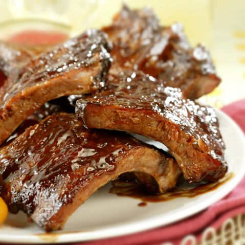 *APR Delivery* U.S. Pork Half Back ribs (Honey BBQ)
