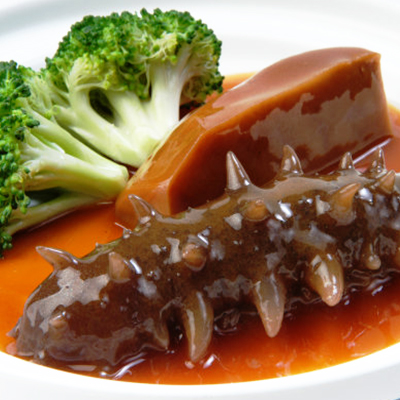 Sea Cucumber with Sauce