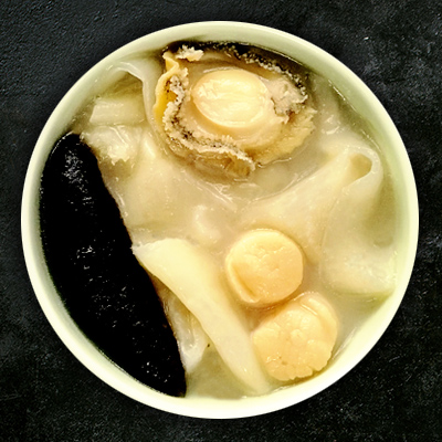 Steamed Abalone with Fish Maw